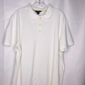 Banana Republic White Fitted Polo Shirt Size XL